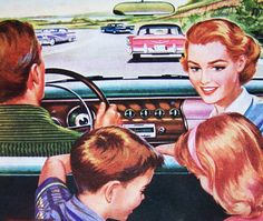 Mother, we can't find our seat belts! That's because only father and I get seat belts.