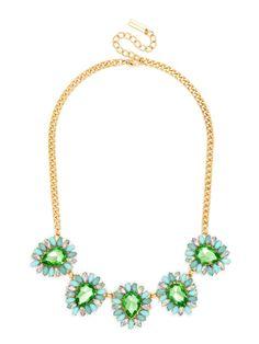 Iridescent Sunburst Collar Necklace   BaubleBar