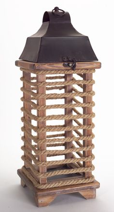 Rope Wrapped Lantern Item #62270