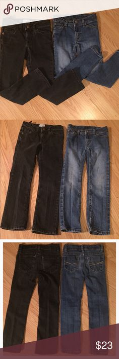 FREE SHIPPING 🎉2 Pairs of Little Girl's Size 5 2 Pairs of Little Girl's Size 5, 1 black skinny & 1 pair of blue jeans. Simply offer $6 less so it's me covering your shipping cost. This is my gift to you through 12-31-16. Bottoms Jeans