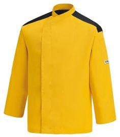 CHAQUETA COCINERO YELLOW FIRST EGOCHEF  Mod. 104015 65% Polyester - 35% Cotton  www.kavaichef.hu