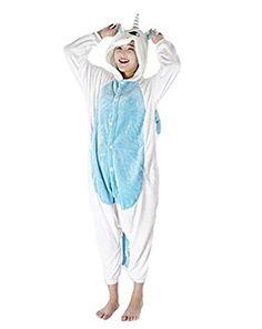 Kenmont Unicorn Pajamas Animal Sleepsuits Nightwear Halloween Cosplay Novelty Costume Jumpsuits Sleepwear Large Blue * Click image for more details-affiliate link. Xmas Pajamas, Halloween Pajamas, Adult Pajamas, Animal Pajamas, Pyjamas, Animé Halloween, Unicorn Halloween Costume, Halloween Cosplay, Halloween Costumes