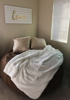 Cozy meets glam  oversized bean bag couch. All products from Homegoods. #Lovesack #Lovesac #Oversizedcouch #Beanbagchair #Oversizedbeanbag