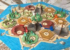 Catan Board Game, Board Games, Settlers Of Catan, Board Game Design, Make A Game, Mini Craft, 3d Laser, Diy Games, 3d Prints