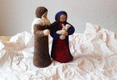 Weihnachtsfiguren - Heilige Familie, groß - ein Designerstück von Waschbrett bei DaWanda