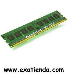 Ya disponible Ddr3 Kingston 4gb/1333   (por sólo 46.99 € IVA incluído):   -Capacidad de almacenamiento: 4 GB -Tecnología: DDR3 SDRAM -Factor de forma: DIMM de 240 espigas -Velocidad de memoria: 1333 MHz ( PC3-10600 ) -Comprobación integridad datos: No ECC -Voltaje de alimentación: 1.5 V      Garantía de 24 meses.  http://www.exabyteinformatica.com/tienda/693-ddr3-kingston-4gb-1333 #ddr3 #exabyteinformatica