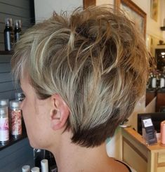 60 Short Shag Hairstyles That You Simply Can't Miss If you want to experiment with one of today's most popular short shag haircuts for women, try keeping the longish sides tucked neatly behind the ears and take a chance with some spi Layered Haircuts For Women, Short Hairstyles For Thick Hair, Short Pixie Haircuts, Short Hair With Layers, Short Hair Cuts For Women, Curly Hair Styles, Bob Haircuts, Medium Hairstyles, Braided Hairstyles