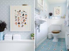 Un baño de estilo floral decorado con mucho encanto | Decorar tu casa es facilisimo.com