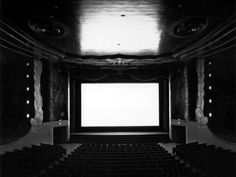 Hiroshi Sugimoto :: Orinda Theater, Orinda, 1992 / more [+] by this photographer Photography Projects, Art Photography, Hiroshi Sugimoto, Tokyo, Moving To Los Angeles, New York, Expositions, Dark Matter, Fire And Ice