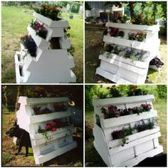 Garden Pallet Doghouse & Planter