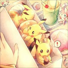 Marill & Pikachu & Sylveon & Jigglypuff