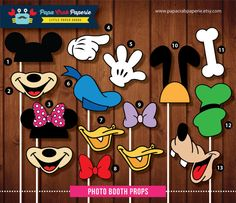 Instant Download / SALE 37 Pieces Disney Inspired Photo Booth Props  + 1 Photo Booth Sign / U.P 14.99 / SALE till 31 April 2014 on Etsy, $9.99