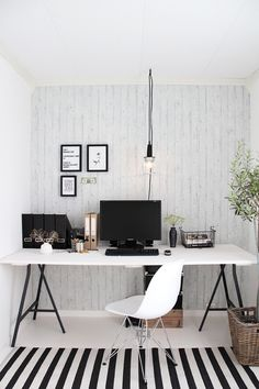 Cool Black & White office