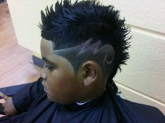 high fade haircut with lightning