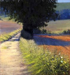Andrew Gifford, Farm Track Towards Glyndebourne, Late Summer Morning
