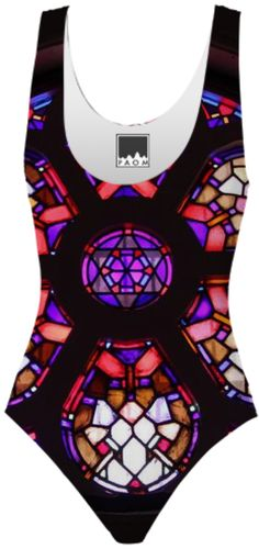 Iglesia del Valle Rosary Window Swimsuit from Print All Over Me