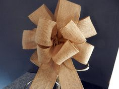 Burlap  bows set of 10 Wedding country rustic by creativelycarole, $100.00
