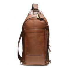 The Bleecker Leather Convertible Sling Pack from Coach
