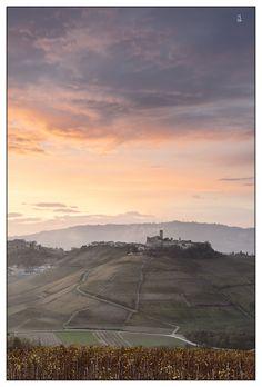 November Sunset -       Serralunga d' Alba,      Langhe, Italy
