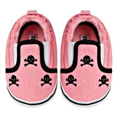 Kiditude Skull Baby Crib Shoes, Pink / Black:Amazon:Shoes
