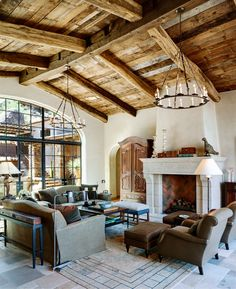 Stunning rustic living room