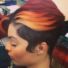 Unique Color @SalonChristol - http://www.blackhairinformation.com/community/hairstyle-gallery/relaxed-hairstyles/unique-color-salonchristol/ #haircolor