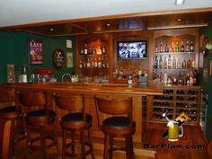 Incredible home bar built using plans from barplan.com