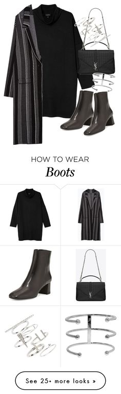"""Untitled #19620"" by florencia95 on Polyvore featuring Monki, Prada, Zara, Yves Saint Laurent and Topshop"