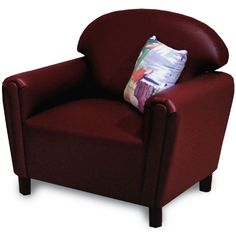Brand New World Vinyl Upholstered School Age Chair - Daycare Tables & Chairs at Hayneedle