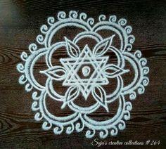 Indian Rangoli Designs, Rangoli Designs Latest, Simple Rangoli Designs Images, Rangoli Border Designs, Rangoli Designs With Dots, Beautiful Rangoli Designs, Rangoli Borders, Rangoli Patterns, Rangoli Ideas