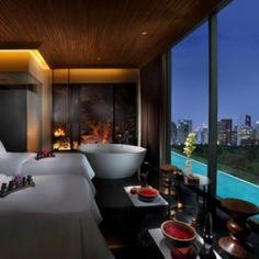 Luxury hotel featuring visually stunning interiors and views.