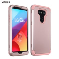51bae096a06 KPJLILI Phone Case for LG G6 5.7 inch Silicone Slim Fit Shock Absorption  Drop Protect Armor