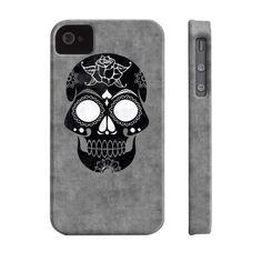 Sugar Skull Black Phone Case