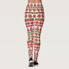 Shop Adorable Red and Green Christmas Patterned Legging created by FeelingLikeChristmas. Christmas Leggings, Winter Leggings, Women's Leggings, Patterned Leggings, Popular Christmas Gifts, Green Christmas, Workout Leggings, Costume, Gift Ideas