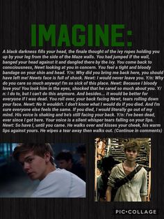Maze Runner Imagine #Newt #Imagine