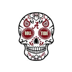 University of Alabama Sugar Skull SVG File Roll Tide Alabama College Football, University Of Alabama, Cute Teacher Gifts, Alabama Crimson Tide, Roll Tide Alabama, Mississippi State, Vinyl Projects, Hand Lettering, Svg File