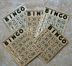 My Grannie would play about 10 cards in each game. Many nights she would win. I wish she could have been around to play at the Casinos, she would have loved it. Vintage Bingo Cards