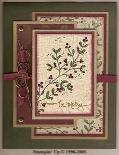 Peaceful Wishes in Burgandy by Carole Richardson - Cards and Paper Crafts at Splitcoaststampers