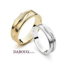 Dabouq Studio Couple Ring - DR0013 - Simple+