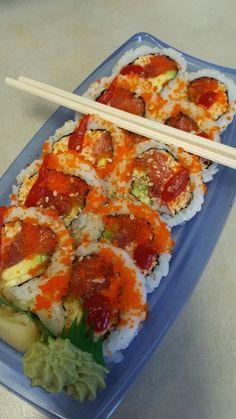 "justagirl504: ""Sushi for lunch! Delish! """