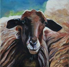 ORIGINAL PAINTING  Sheep Painting Acrylic On Canvas Sheep
