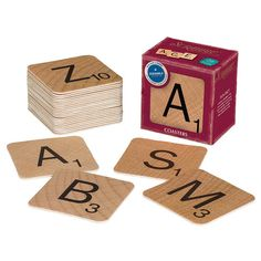 Scrabble Vintage Bar Style Coasters – Paper Luxe