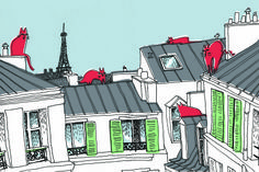 Parisian cats on the roofs by http://cargocollective.com/elisamcgregor/