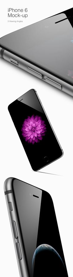 iPhone 6 MockUp – 3 Viewing Angles | GraphicBurger