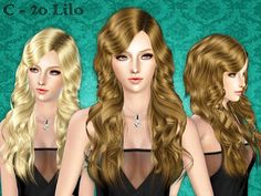 The sims 3 wavy hair cc
