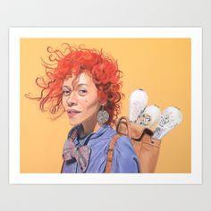 The juggler Art Print by Claudia Bicen - $18.00