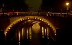 seven bridges by night