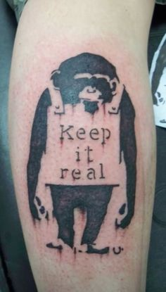 Sad Monkey Tattoos Gallery