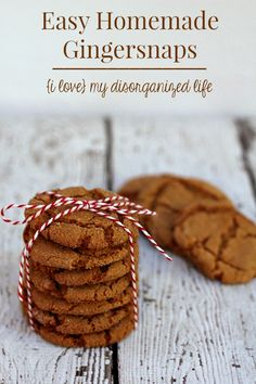 These homemade gingersnaps have just the right amount of spice, can be baked a little less for a chewy cookie or a little more, making them perfect for coffee dipping.