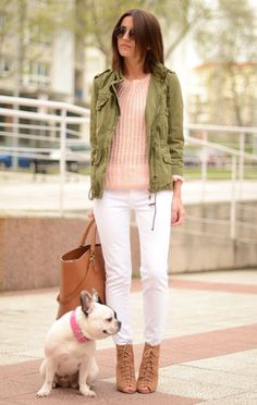 #chic #boho pink sweater + white skinny